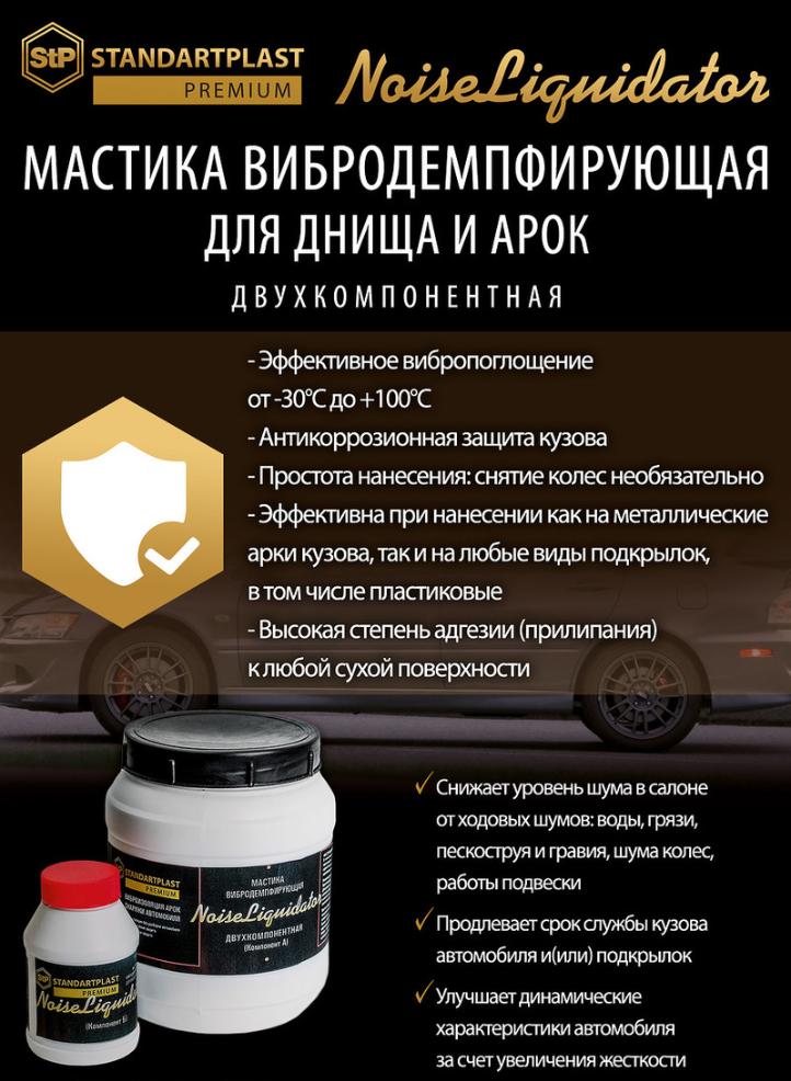 Мастика вибродемпфирующая NoiseLIQUIDator Екатеринбург
