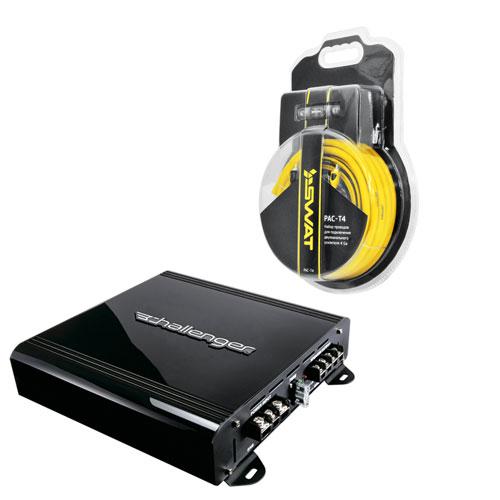 Купить Набор Усилитель Challenger POWER 400.2 + SWAT PAC-T4 /набор проводов для подкл. 2х кан. усилителя 4Ga