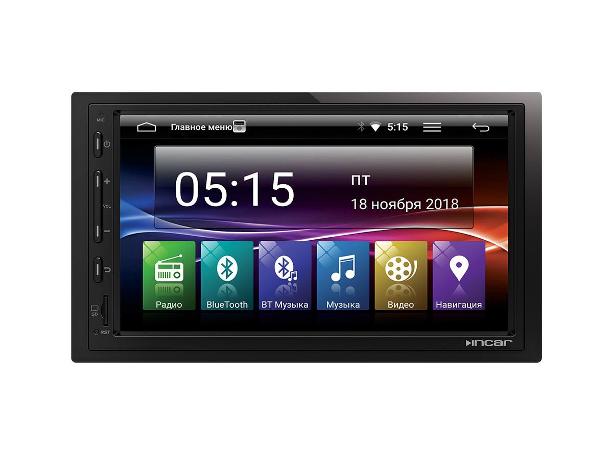Штатная универсальная автомагнитола на андройде 7.0 2DIN с GPS-навигацией и Bluetooth -Incar AHR-7480